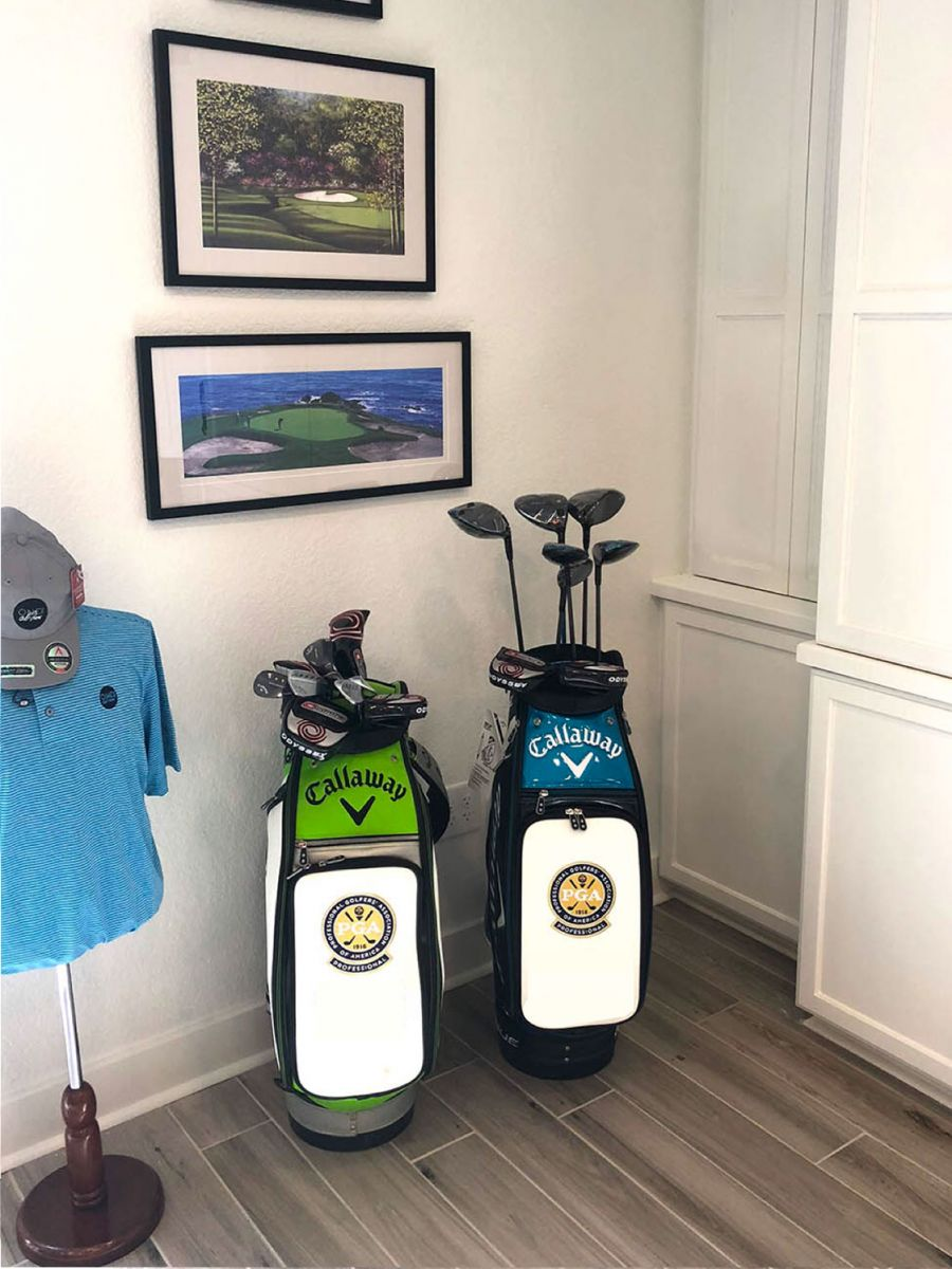 Interior of pro shop - with golf clubs