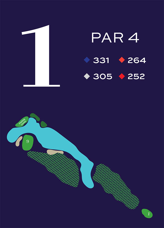 Hole 1 Distances
