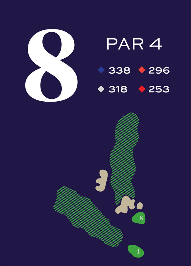 Hole 8 Distances